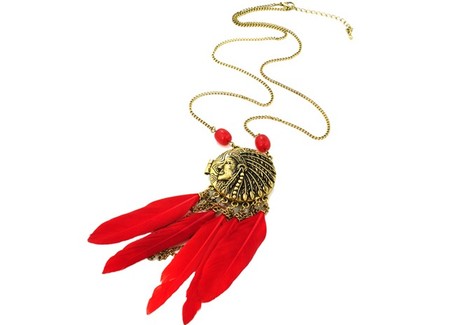 Restore ancient ways feather necklace