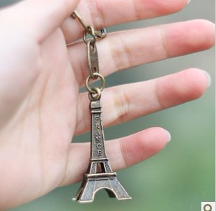 Alice Carl the Eiffel Tower model key chain